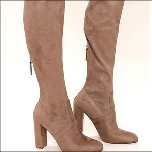Steve Madden Suede Over the Knee Camel Boots